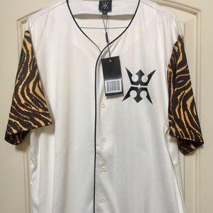 Miggy Men's Baseball Tiger Print Jersey Sz XL NWT